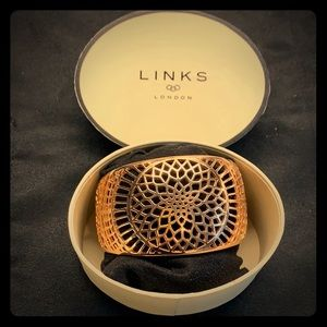 "Links of London ""Timeless Cuff"" in 18k Rose Gold"